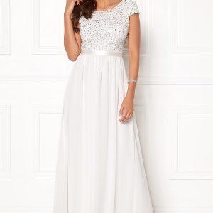 sparkling gown white