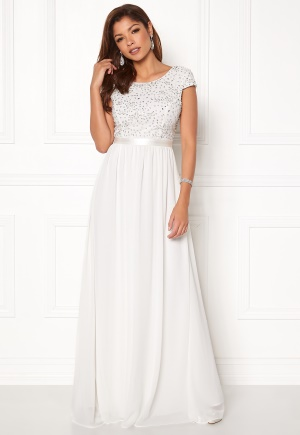 sparkling gown white
