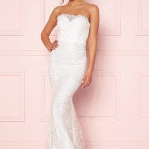 petal wedding gown